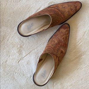 J. JILL Suede Leather Tapestry Mule